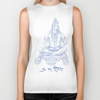 shiva Biker Tanks featuring SHIVA by Only Vector Store - Allan Rodrigo