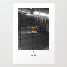 Train Thinks @ NYC Art Print