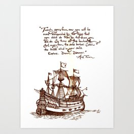 Quote Ship Art Print