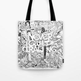 Doddle | Never Quit Drawing Tote Bag