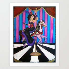 The Carousel Number  Art Print