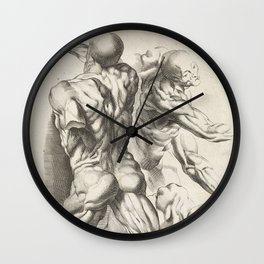 Anatomical study of three figures, 17th Century Wall Clock