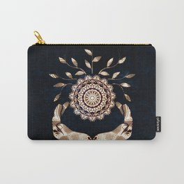 Glowing Soul-Seed Mandala Carry-All Pouch