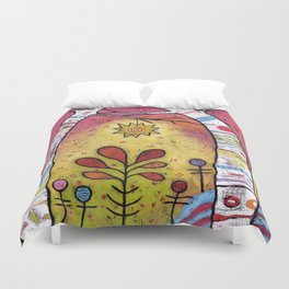 Magical Aspen Forest - Leaning into Starlight Duvet Cover