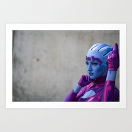 Asari by Arizzel Cosplay Art Print