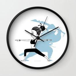 Yoga Ninja Warrior Wall Clock