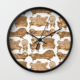 Victorian Lounge – Sepia Palette Wall Clock