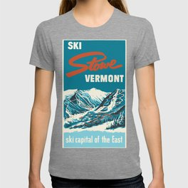 Stowe, Vermont Vintage Ski Poster T-shirt