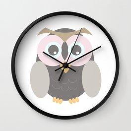 la lechuza hace shhhhhhhhhhhhh II Wall Clock