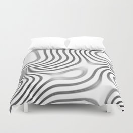 Organic Abstract 01 WHITE Duvet Cover
