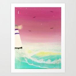 Vibrant Sea Art Print