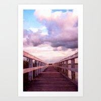 bridge Art Prints featuring bridge by Claudia Drossert