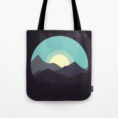 Minimal Mountain Night Tote Bag