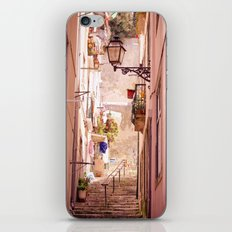the narrow street in lisbon iPhone & iPod Skin