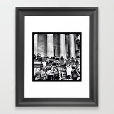 Occupying Wall Street. Framed Art Print