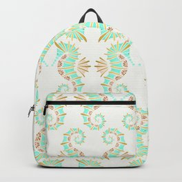 Cute seahorse in aqua pink and gold accents Backpack