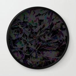 Flora Celeste Magnetite Leaves Wall Clock