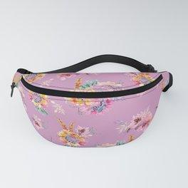Meadow Flowers on Pastel Purple Fanny Pack