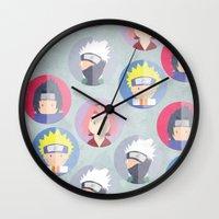 naruto Wall Clocks featuring Naruto icons by Maha Akl