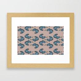 Blue Platypus Framed Art Print