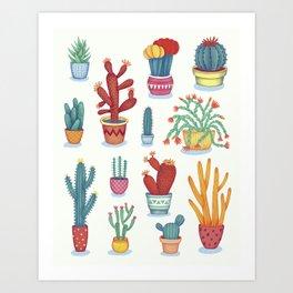 Cactus Poster Art Print