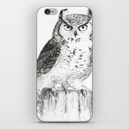 My great horned owl: Nuit iPhone Skin