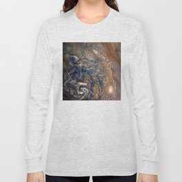 Swirling Clouds of Planet Jupiter Close Up from Juno Cam Long Sleeve T-shirt