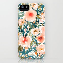 HIBISCUS NIGHTSWEATS Tropical Floral iPhone Case