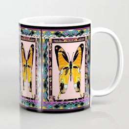 Southwest Style Swallowtail Butterfly Patterned Abstract Coffee Mug