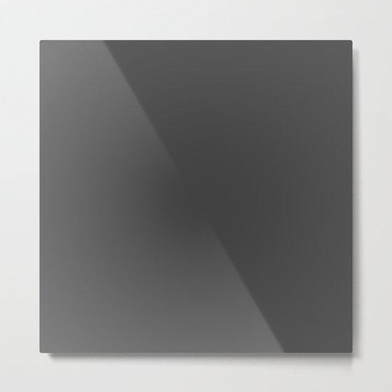 Simply Dark Gray Metal Print