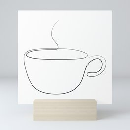 coffee or tea cup - line art Mini Art Print