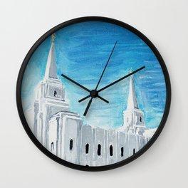 Brigham City Utah LDS Temple Wall Clock