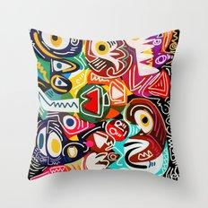 Life is beautiful street art graffiti Throw Pillow