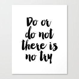 Do Or Do Not There Is No Try - Yoda - Inspirational Quote - Dictionary Print Book Art Print Canvas Print