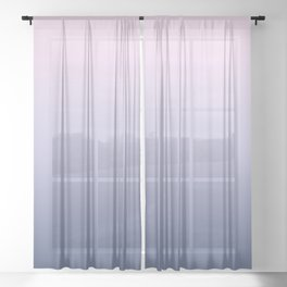 Ombre Millennial Pink Lilac Blue Gradient Pattern Sheer Curtain