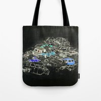 cars Tote Bags featuring Cars by Alyssa Dennis