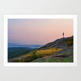 Standing on a Mountain Art Print