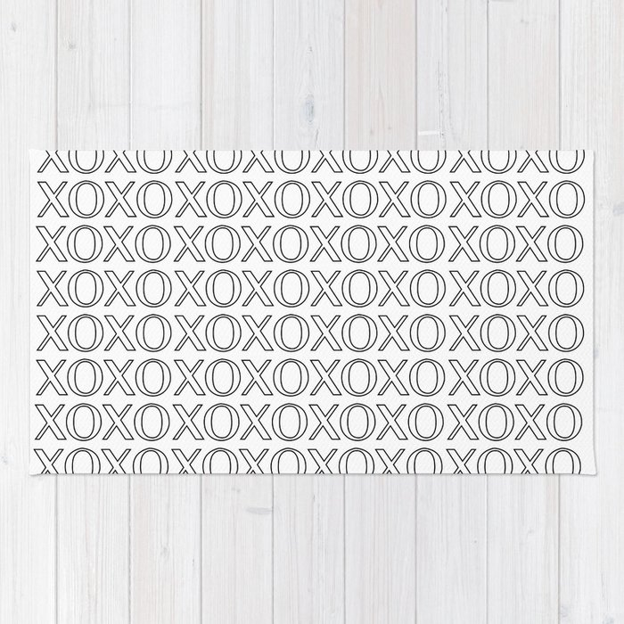 XOXO Pattern Art Print Rug