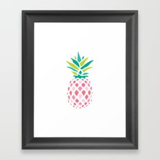 Pink Pineapple Framed Art Print