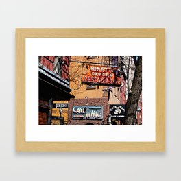 Signs of Greenwich Village, NYC Framed Art Print