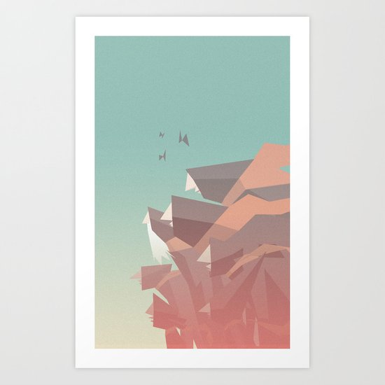 Between Bears Art Print