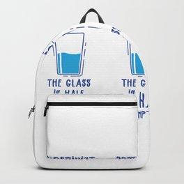 Optimist Pessimist Aquarist Aquarium Fish Tank Gift design Backpack