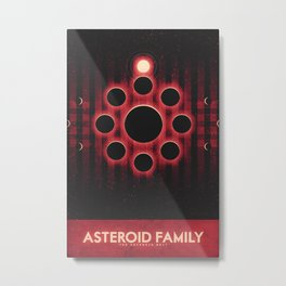 The Asteroid Belt - Asteroid Family Metal Print