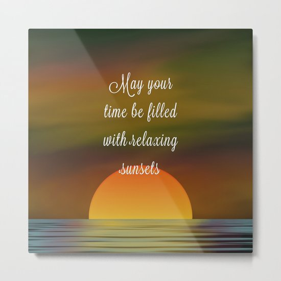 Relaxing Sunsets Metal Print