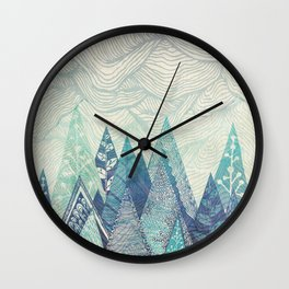 Mountain Crash Wall Clock