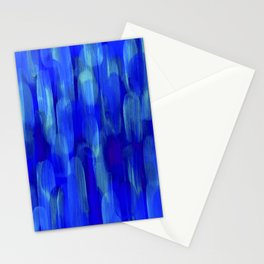 Abstract Layered Brush Texture Lapis Color Blue Shade Stationery Cards