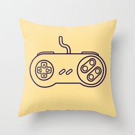 Super Nintendo Controller - Retro Style.  Throw Pillow