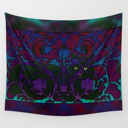 Art Nouveau Visible Cat Wall Tapestry