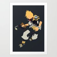 kingdom hearts Art Prints featuring Kingdom Hearts - Ventus by TracingHorses