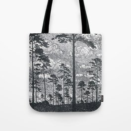 Albert König (1881-1944) - Kiefern Black And White Landscape Ink Art Tote Bag